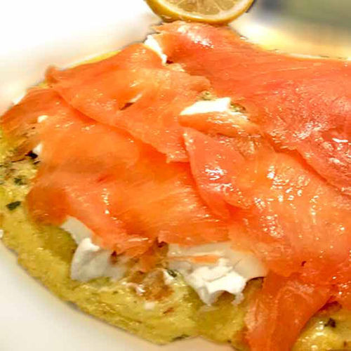 Mascarpone-Lachs-Pizza
